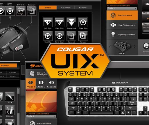COUGAR ATTACK X3 - COUGAR UIX™ SYSTEM