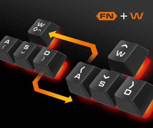 COUGAR DEATHFIRE - WASD & ARROW KEY EXCHANGE