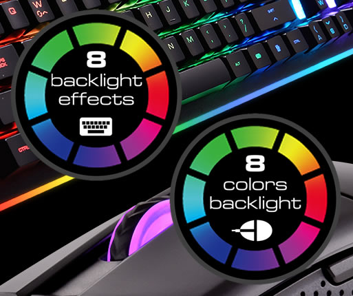 COUGAR DEATHFIRE EX - Eight Backlight Effects with Eight colours