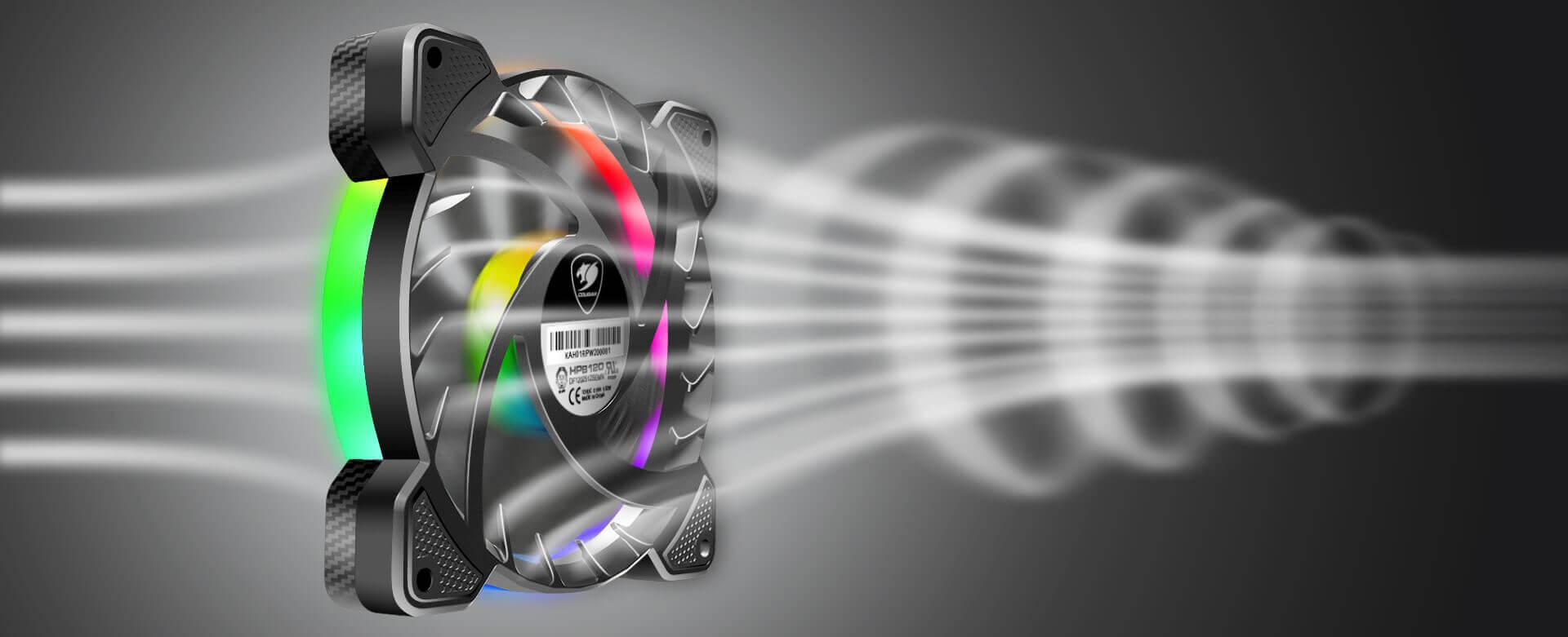 Cougar VORTEX RGB SPB 120 PWM HDB Cooling Kit Fans - 3 pack 13