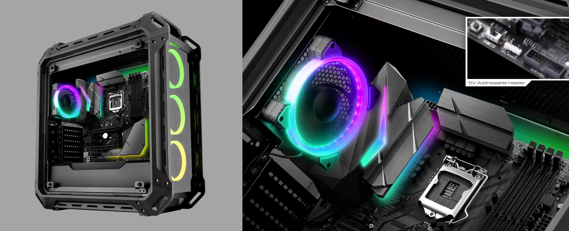 COUGAR Vortex RGB FCB 120 Cooling Kit- Cooling Fans - COUGAR