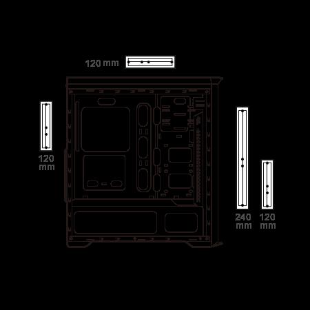 Cougar MX350 RGB Enhanced Visibility Mid-Tower Case 16