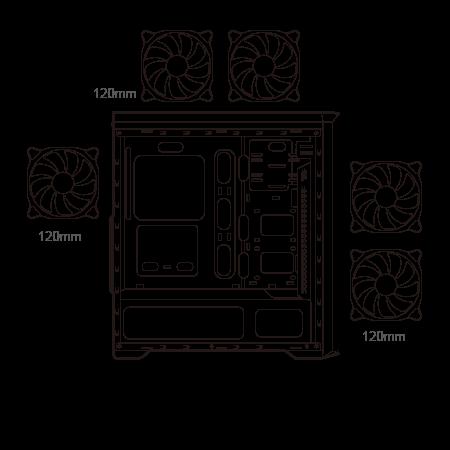 Cougar MX350 RGB Enhanced Visibility Mid-Tower Case 18