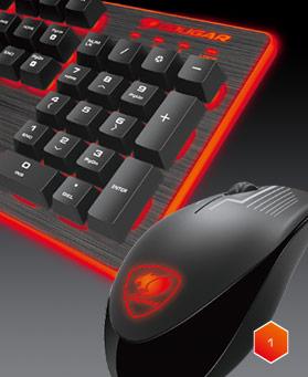 Cougar DEATHFIRE Gaming Gear Combo 24