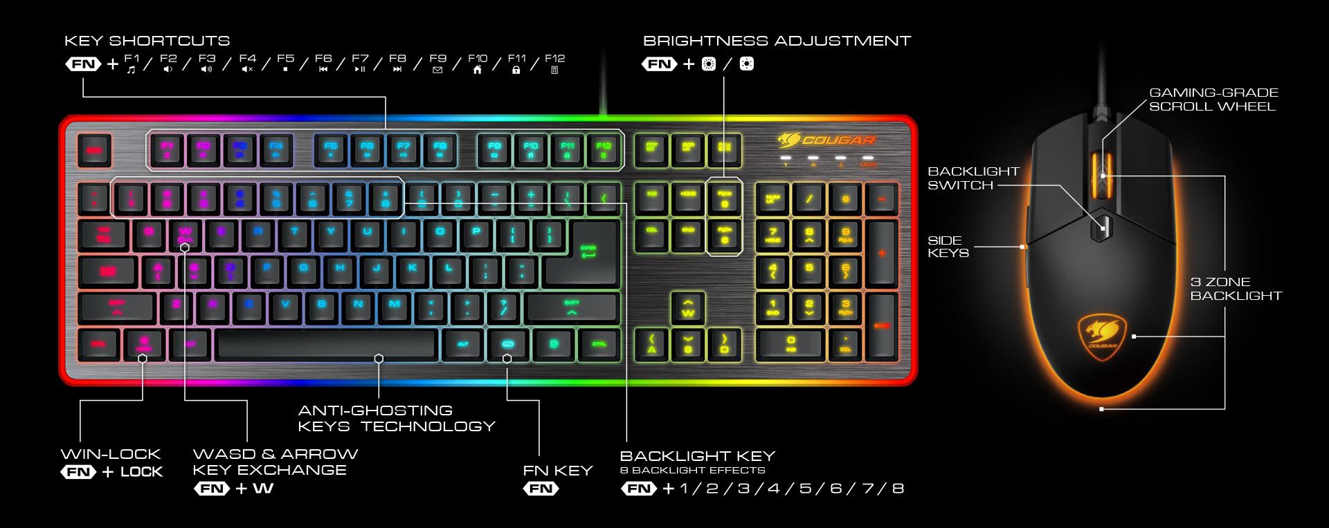 COUGAR DEATHFIRE EX - Gaming Gear Combo - COUGAR