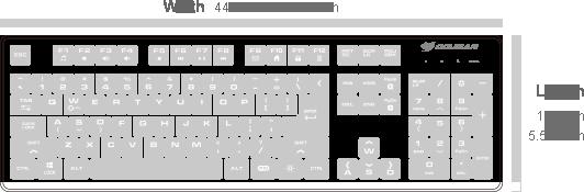 Cougar DEATHFIRE Gaming Gear Combo 39