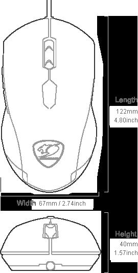 Cougar MINOS X2 Optical Gaming Mouse 22