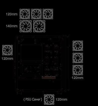 Gabinete Cougar Gemini S Silver - Vidrio templado Mini ITX / Micro ATX / ATX 2 385BMB0.0002