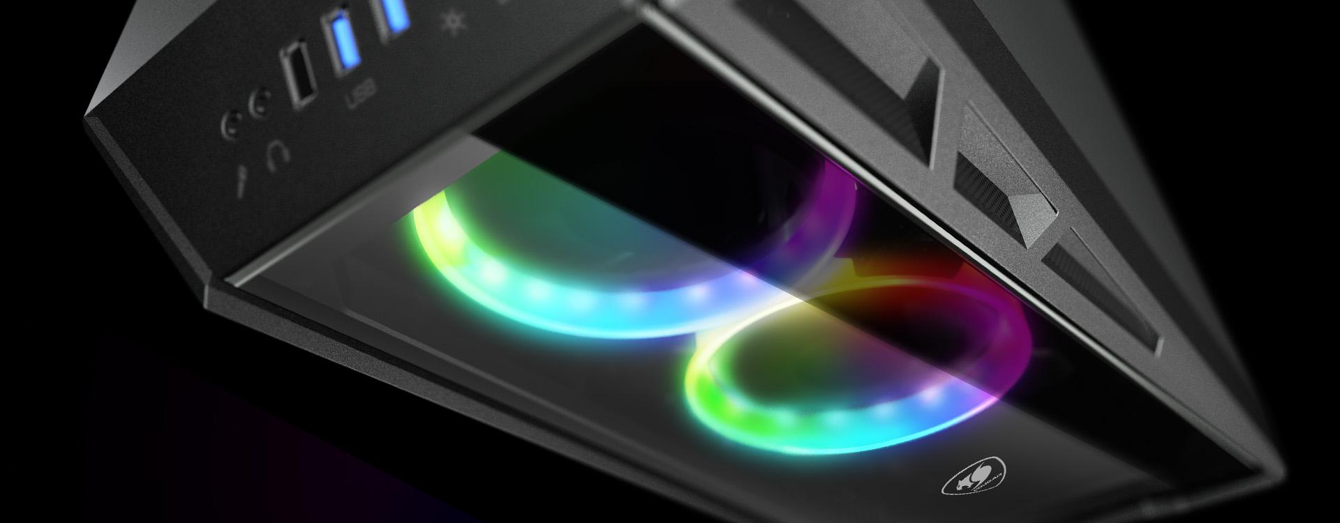 Deux incroyables ventilateurs RGB