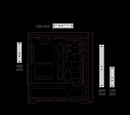 Gabinete gamer Cougar MX330-G Air ATX 4 385NC10.0021
