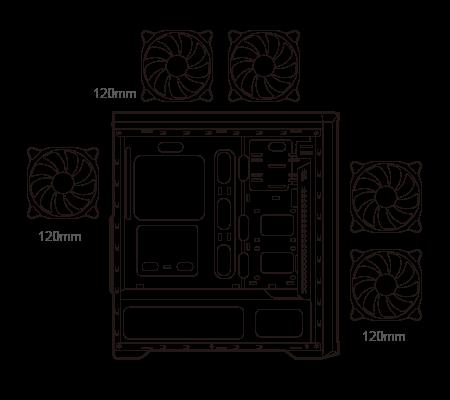 Gabinete gamer Cougar MX330-G Air ATX 5 385NC10.0021