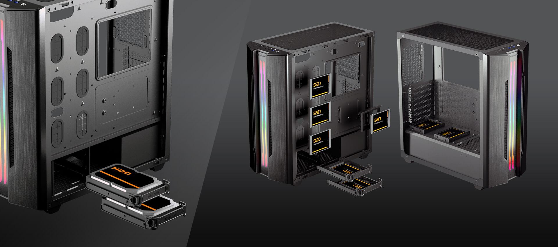 Gabinete Cougar Gemini S Silver - Vidrio templado Mini ITX / Micro ATX / ATX 3 385BMB0.0002