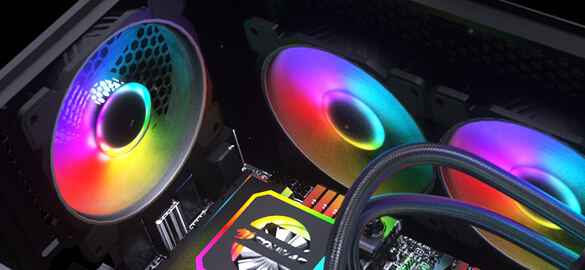 Cougar MX410-G RGB Powerful Airflow and Compact Mid-Tower Case with Tempered Glass 18