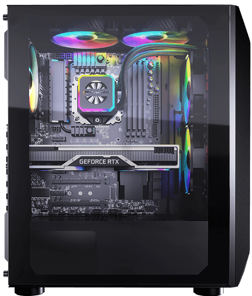 Cougar MX410-G RGB Powerful Airflow and Compact Mid-Tower Case with Tempered Glass 12