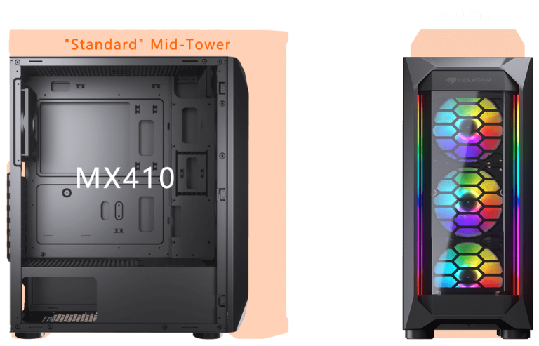 Cougar MX410-G RGB Powerful Airflow and Compact Mid-Tower Case with Tempered Glass 13