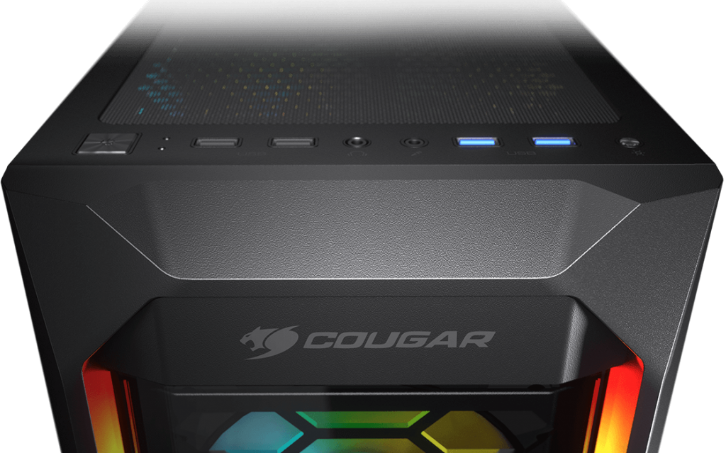 Cougar MX410-G RGB Powerful Airflow and Compact Mid-Tower Case with Tempered Glass 14