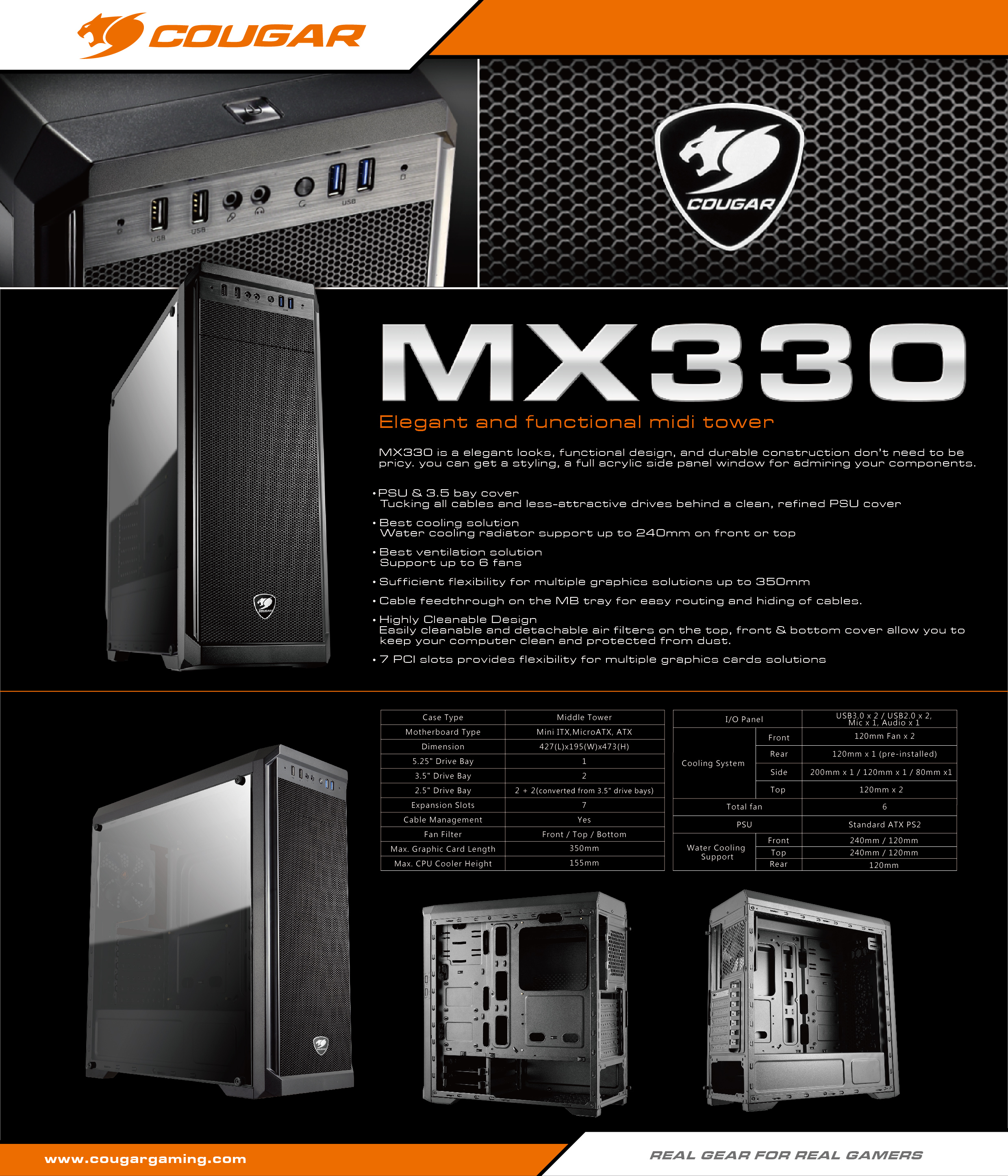 Resultado de imagen para fotos gabinete cougar mx 330