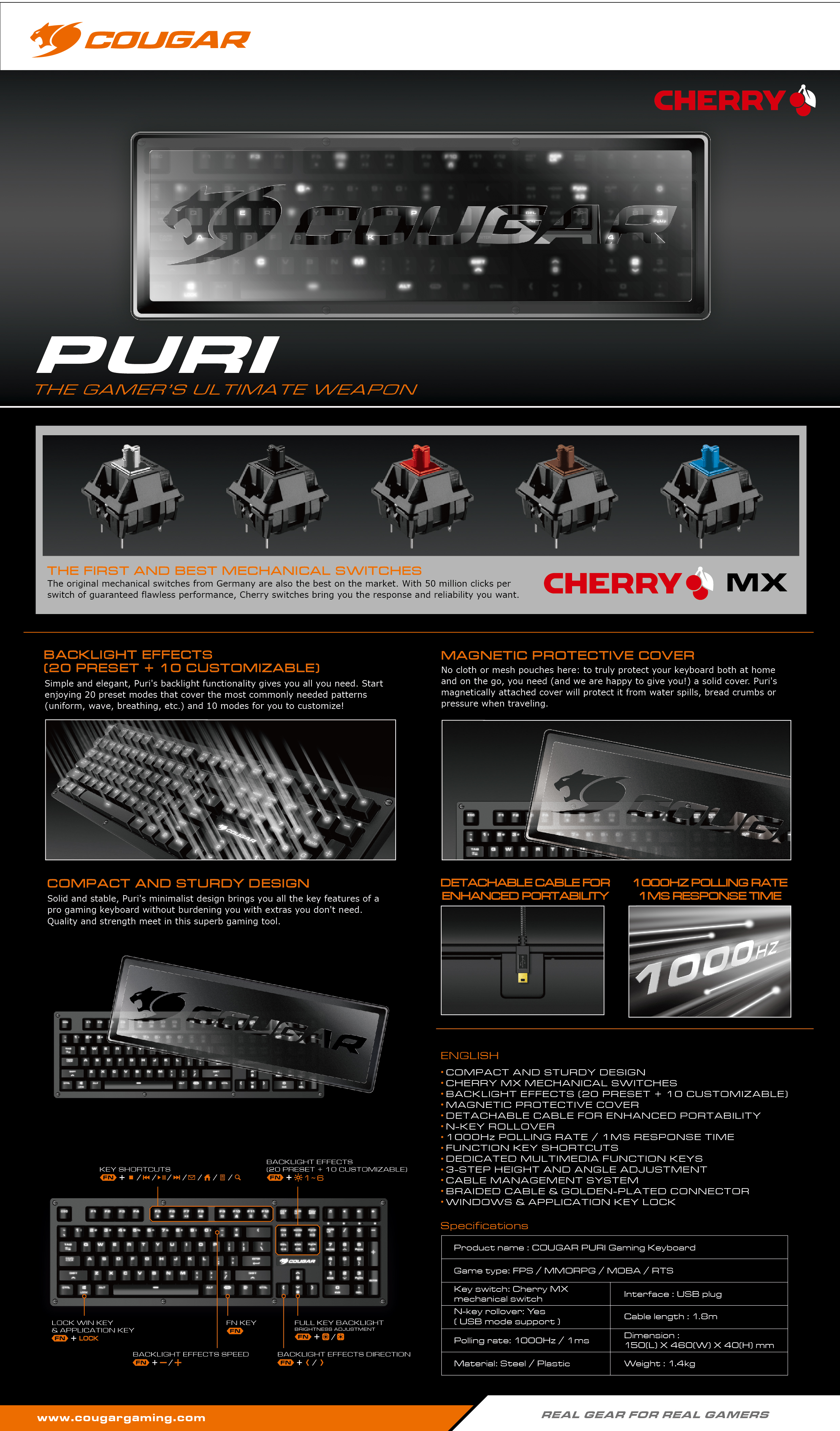 Cougar Puri Cherry Mx Mechanical Gaming Keyboard Rollover Cable Diagram This Black Is A Users Manual