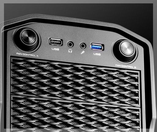 COUGAR MX310 - Ajuste manual preciso de la velocidad del ventilador para dos grupos de ventiladores (hasta cuatro ventiladores).
