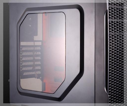 COUGAR MX310 - Cubierta lateral acrílica transparente.