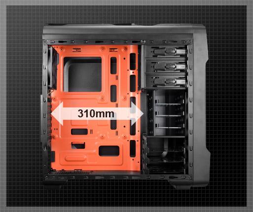 COUGAR MX310 - Soporta tarjetas gráficas de alta gama (hasta 310mm)
