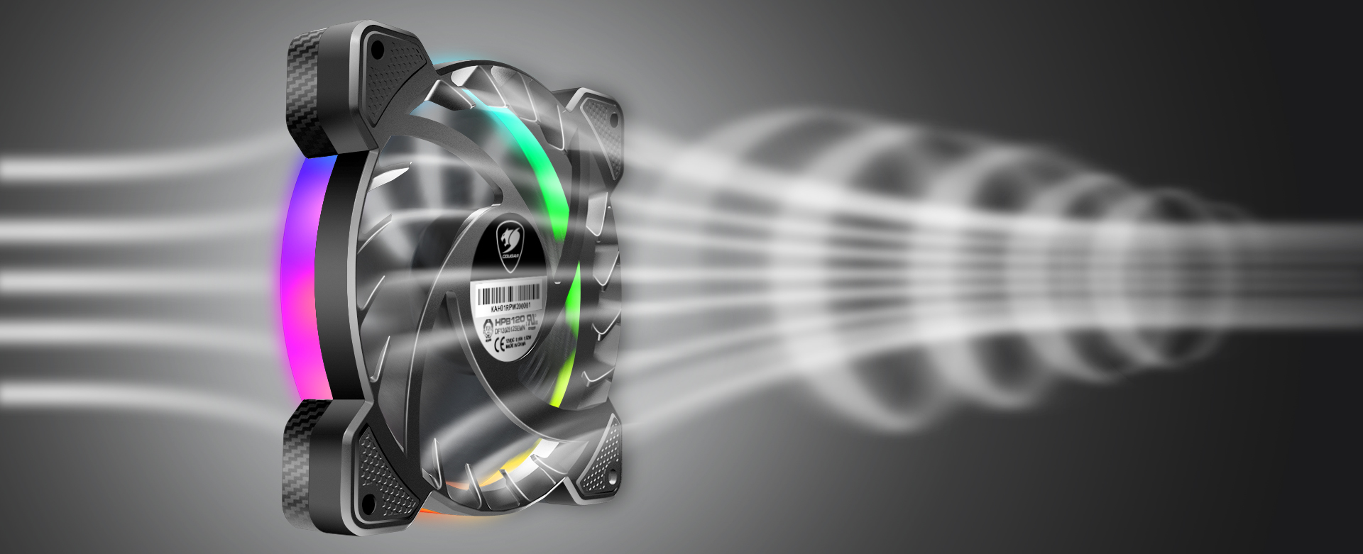 COUGAR CFD series - VORTEX RGB HPB 120 PWM HDB