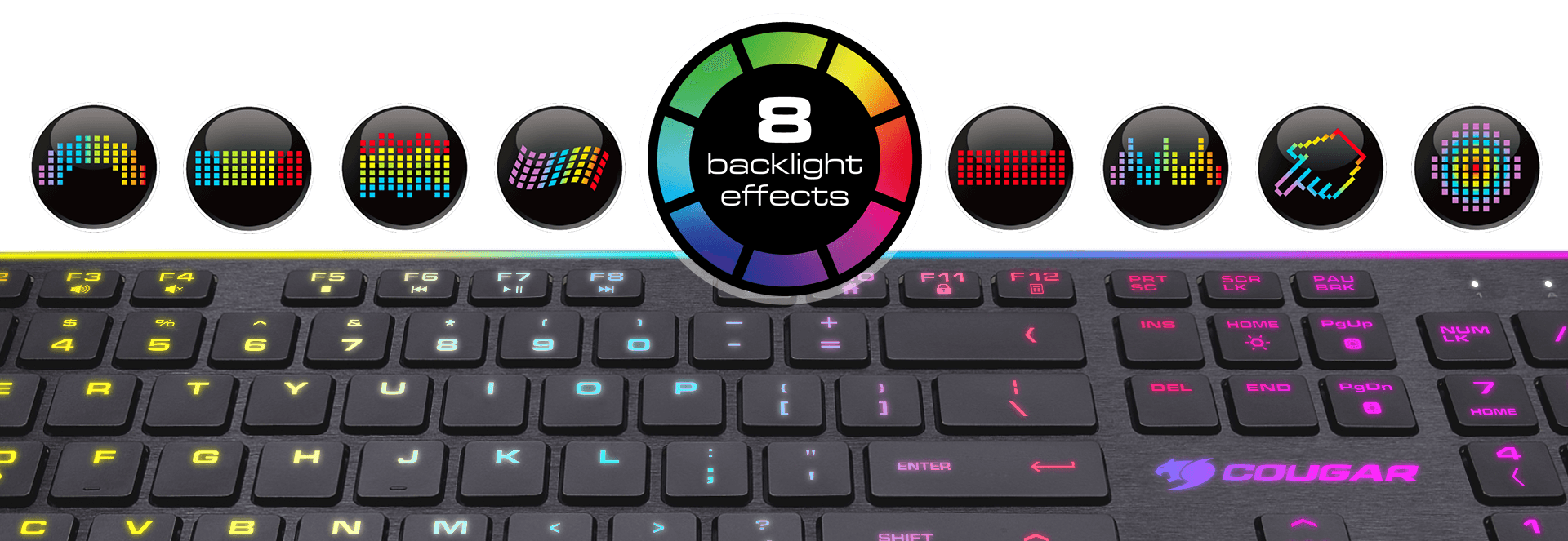 Cougar vantar scissor gaming keyboard with a backlit area far larger than that of most gaming keyboards the possibility of enjoying 8 different effects including a customizable one buycottarizona Image collections