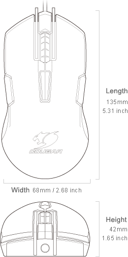 COUGAR 250M - Dimension