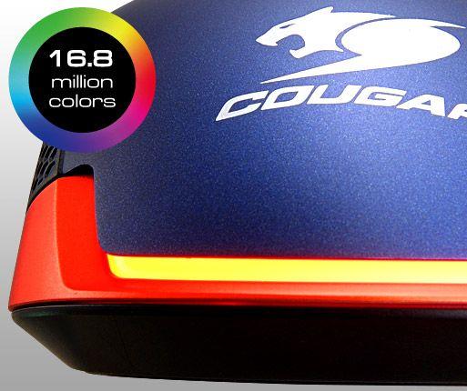 COUGAR 550M - SISTEMA MULTICOLOR (RGB) DE RETROILUMINACIÓN DE 2 ZONAS