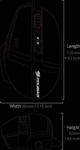 COUGAR 600M - Dimensiones